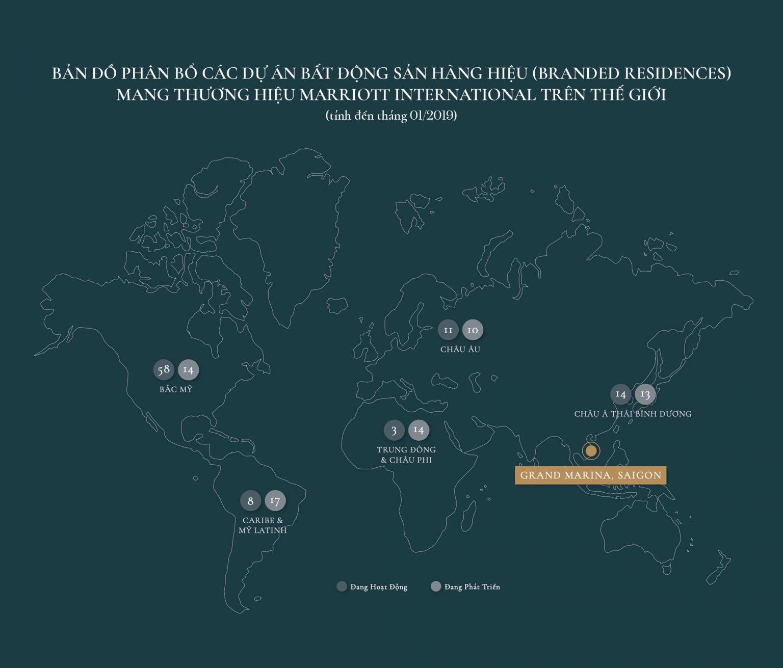 Các dự án Khu dân cư thương hiệu Marriott trên thế giới