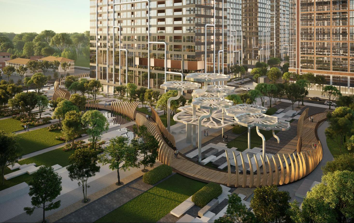 Cầu đi bộ nội khu dự án Grand Marina Saigon