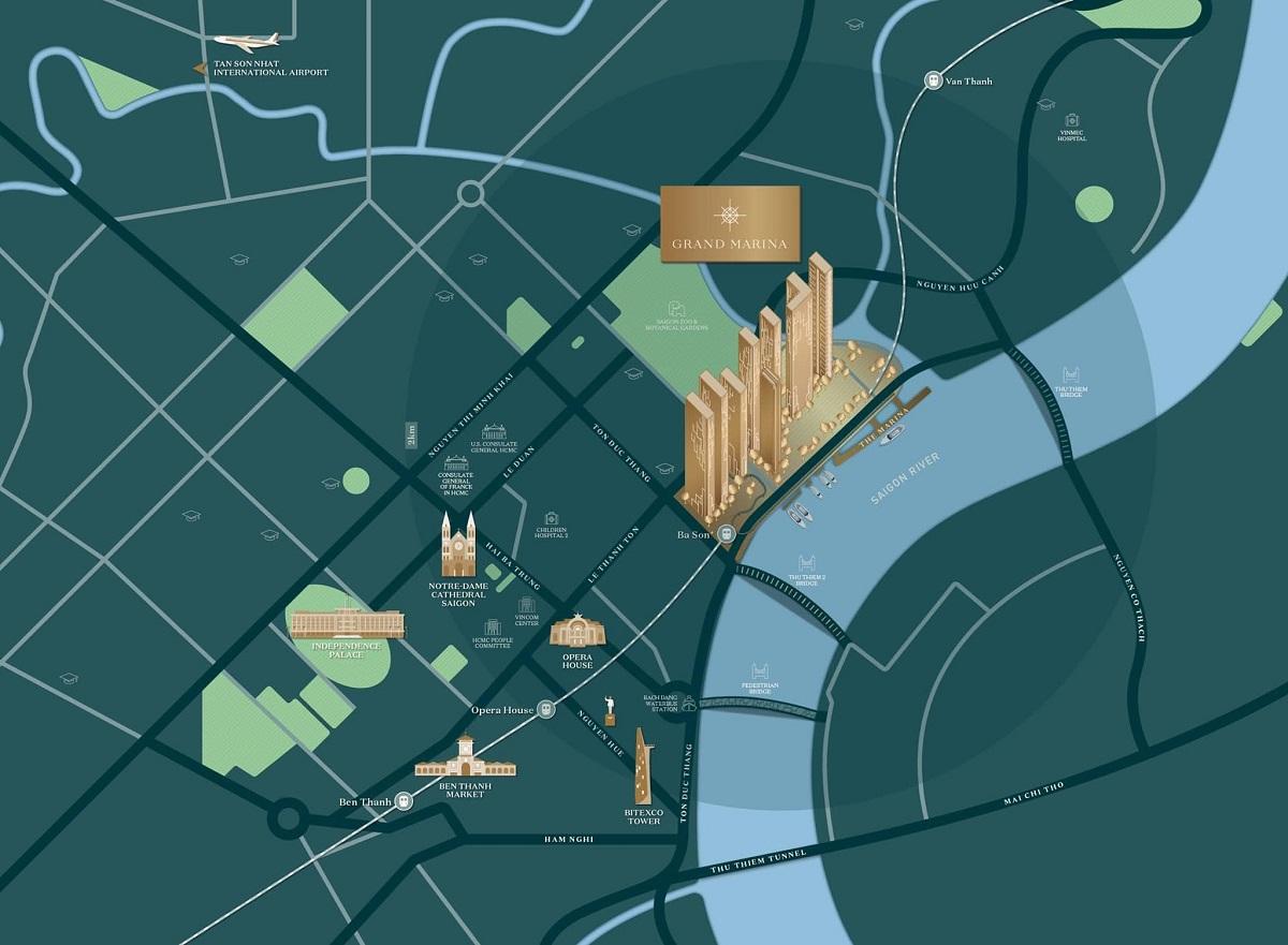 Vị trí dự án Grand Marina Saigon